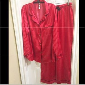❤️SILKY NWT Red/Red Striped LS BD w/ Long Pant PJs